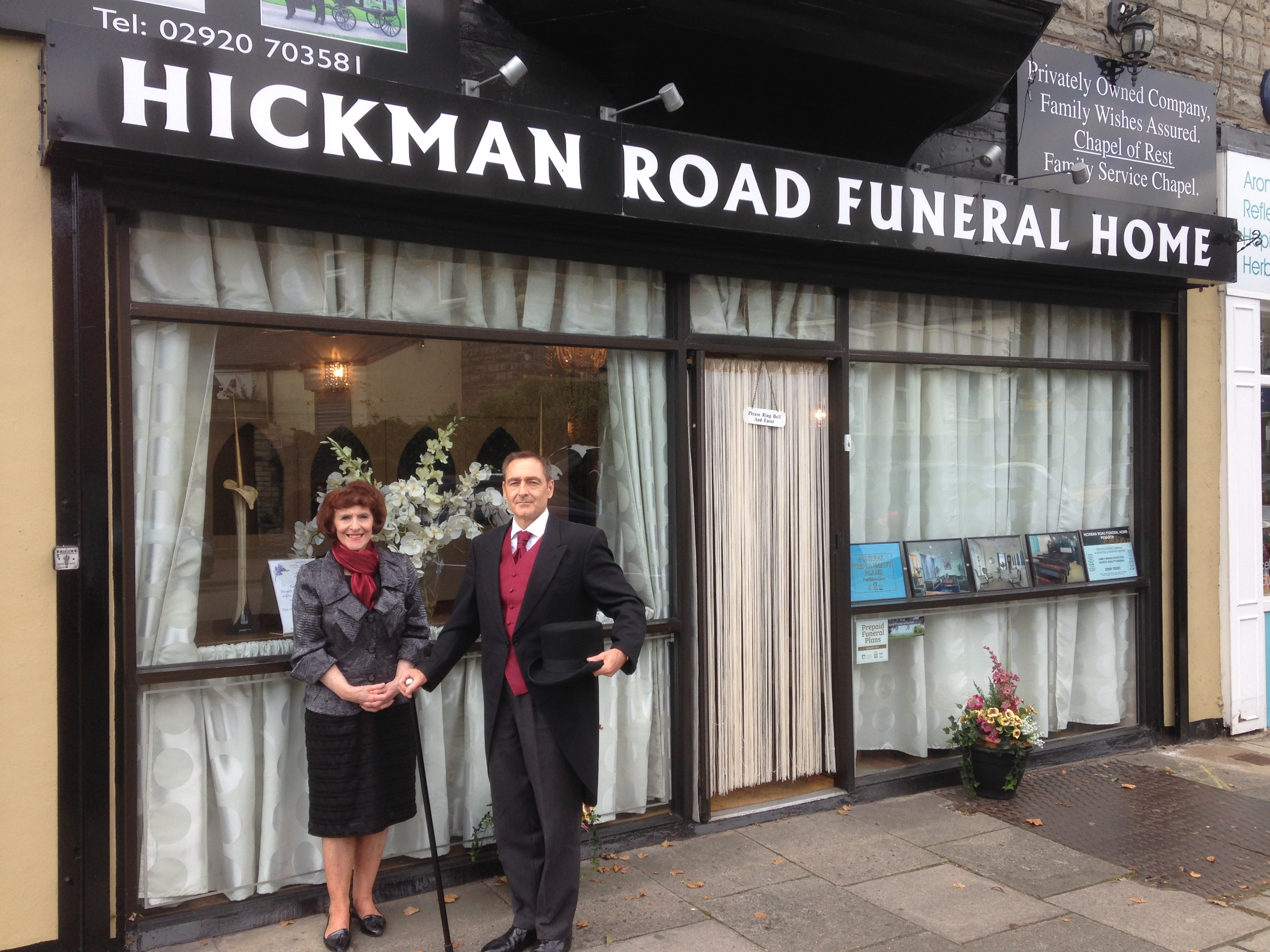 Outside Penarth Funeral Directors