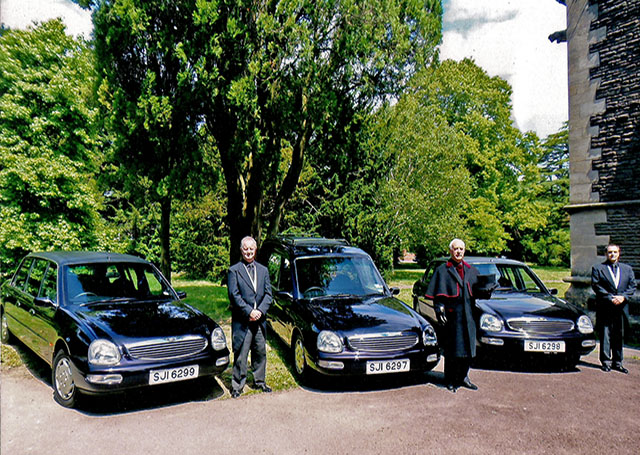 Fleet of Cars for Penarth Funeral Directors